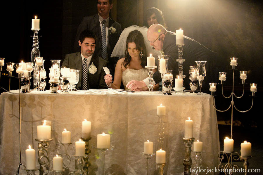 Candles at wedding