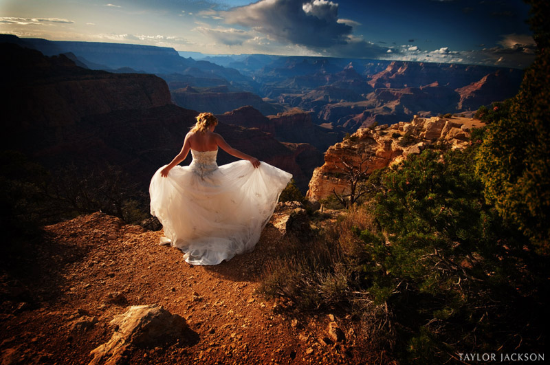 wedding dress grand canyon arizona