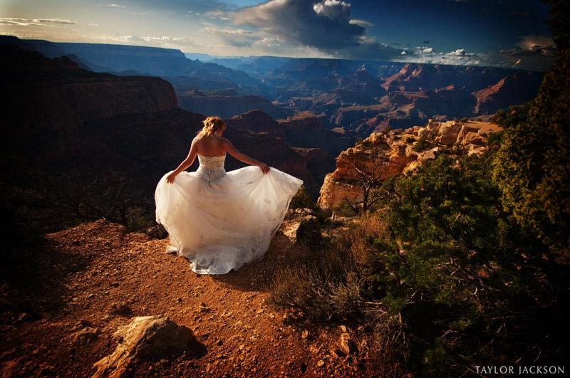 wedding dress grand canyon arizona