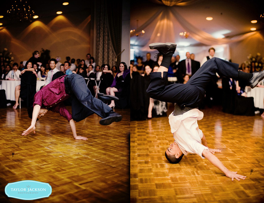 breakdancing wedding dance floor