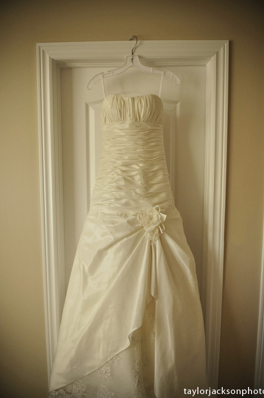 Wedding Dress hanging in St. Jacobs Ontario